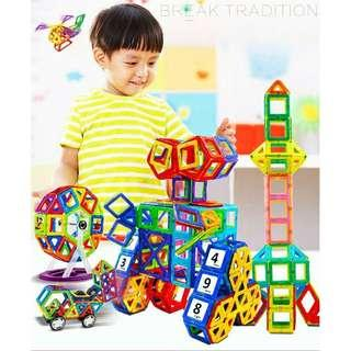Magnetic Kids Toy 64pcs Colorful Creative Multi Transform DIY toy