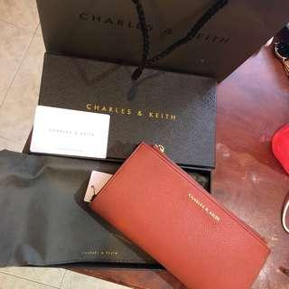 Authentic Charles & Keith Long Wallet