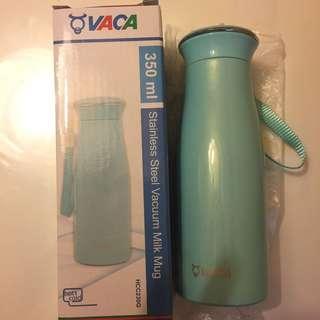 VACA stainless steel vacuum milk mug 小牛角不銹鋼真空杯