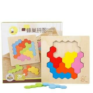 Newest Kids Wooden Geometry Educational Puzzle Montessori Early Learning