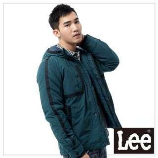 🚚 Lee 外套 連帽連身防風鋪棉 -男款(藍綠)