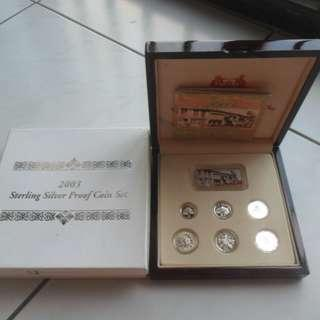 2003 Singapore Silver Proof Coin Set