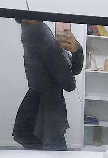 Grey/Black Chiffon Top