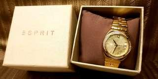 Esprit Watch stainless steel gold-tone  stripe
