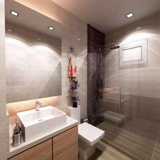 HDB/Private condo/Landed Toilet Bathroom Upgrading Renovations Package