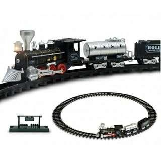 Kids Classical Track Train Retro Steam Train Toy With Sound And Light