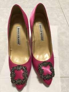 Manolo Blahnik inspired pink heels