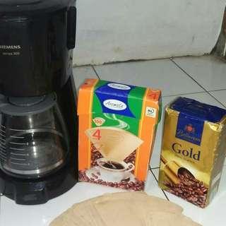 Alat penyaringan kopi + kertas penyaringan