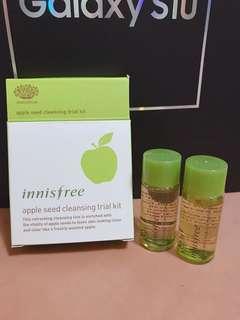 🚚 Innisfree 蘋果籽深層清潔組 卸妝油 眼唇卸妝液 小樣 試用
