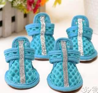 BNIB Small Dog Breathable Cooling Shoes in Blue