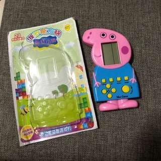 🚚 全新ng粉紅豬小妹佩佩豬喬治俄羅斯方塊遊戲機迷你掌上型益智遊戲機