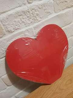 Red Heart shape wooden signage