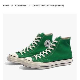 Looking for Converse CT 70 Hi Green (Please refer picture). Size UK 9 / US 9. Original Only.