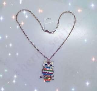 ~ Colourful owl necklace ~