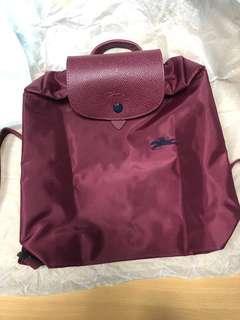100%new 全新 longchamp le pliage backpack 背囊 紅