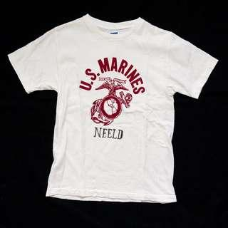 DUBBLEWORKS SMALL USMC GRAPHIC TSHIRT MADE IN JAPAN