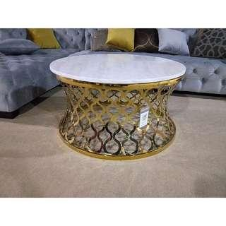 Gold stainless steel coffee table