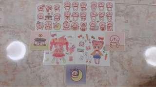 🚚 Cute animal sticker set!