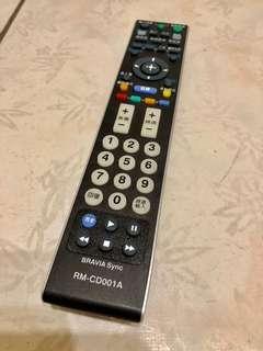 新力 SONY RM-CD001A 液晶電視遙控器