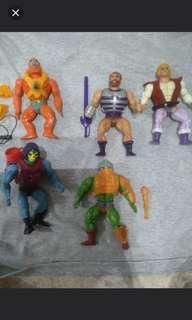 Masters of the Universe Motu Vintage Figures set