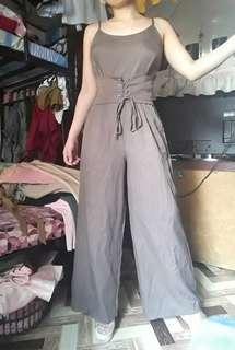 Bkk corset waist jumpsuit