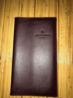 PATEK-PHILIPPE GENEVE PASSPORT HOLDER GENUINE LEATHER