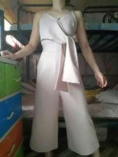 JQ formal nude pink jumpsuit