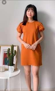 Nineteen89 Casual Cotton Dress with Puffy sleeves