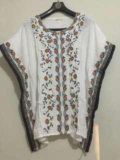 Embroidered floral top
