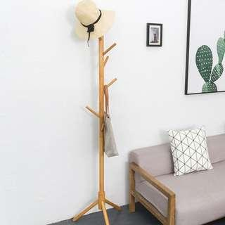 🚚 [PROMOTION] Pinewood Floor Stand Pole Coat Hat Hanger Rack for Hall Entry Living Room Office