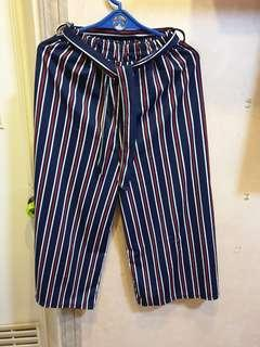 Stripes Culottes Pants