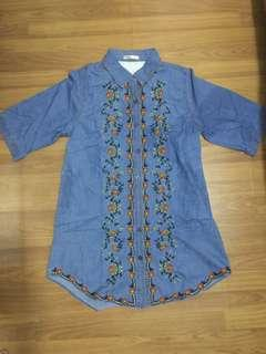 Embroidered maong dress from thailand