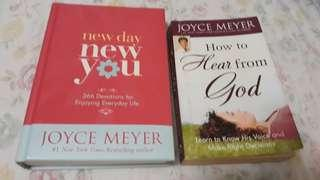 🚚 Joyce Meyer's books-New Day New You and How to Hear from Gof