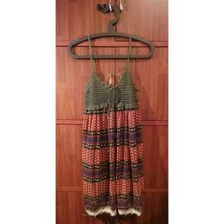 Brown knit top dress