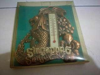 Singapore Metalic Thermometer Souvenir with Merlion