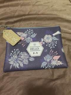 Floral design pouch from thailand