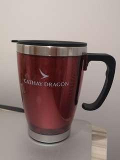 國泰港龍航空 Cathay Dragon 紅色保温杯 Mug