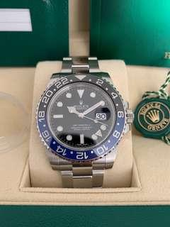"BNIB Rolex GMT-Master II 116710BLNR ""Batman"""