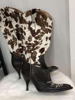 Dolce & Gabbana- Ponyhair-Trimmed Cowboy Boots