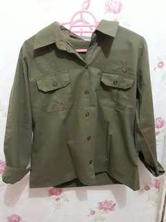 Preloved kemeja army