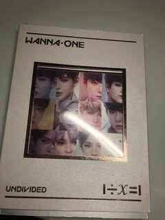 Wanna one official Undivided Art Book