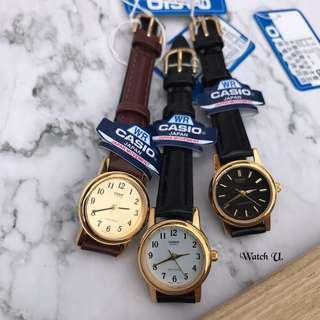 🚚 100%Casio公司正貨 實拍 復古文青細皮手錶 真皮錶帶 簡約大方質感