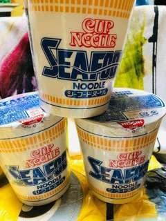 Cup noodles seafoods from japan