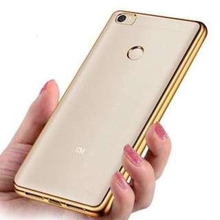 Xiaomi Max Ultra-Slim TPU Gold Chromed Case