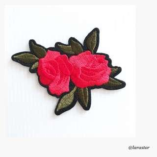 🚚 Bn Rose Iron On Patch