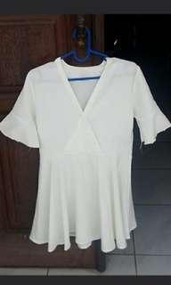 kimono mini dress white