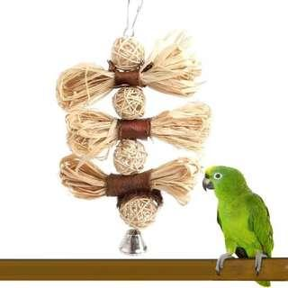 Natural Wooden chewing loofah vine ball bird parrot toy