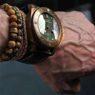 Swiss Pam382 real bronzo case sapphire front & back