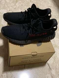 NY Sale! Yeezy Boost 350 V2 black red