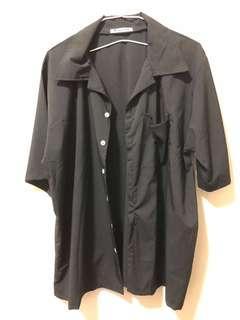 🚚 黑色短袖襯衫